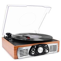 1byone belt drive stereo turntable