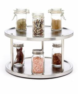 2 Tier Lazy Susan, 360-degree Turntable Spice Organizer, Sta