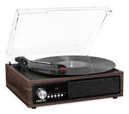 3-in-1 Bluetooth Record Player in Espresso