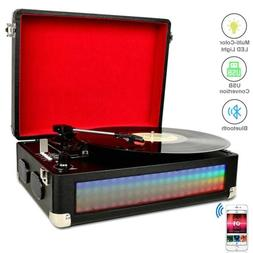 3-Speed Bluetooth Multi-Color LED Record Player Turntable Vi