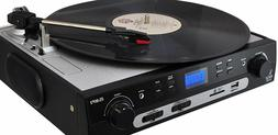 Pyle 3 Speed Stereo Turntable Record Player AM/FM Radio AUX