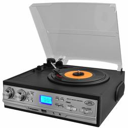 Pyle 3 Speed Stereo Turntable Record Player Cassette AM/FM R