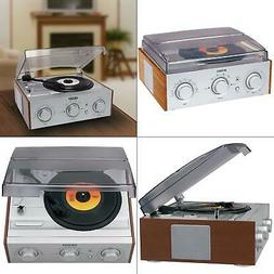 3-speed turntable with am/fm receiver and stereo speakers |