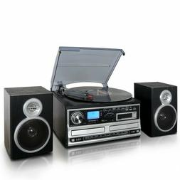 Trexonic 3 Speed Turntable With CD Player  CD Recorder Casse