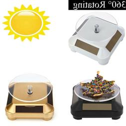 360° Rotating Turntable Jewelry Display Stand - Solar or AA