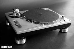 4 Technics 1200 DJ Turntable Brushed Alum Sorbothane Isolati