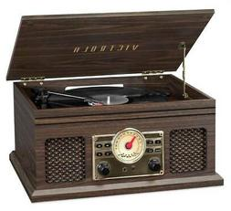 4-in-1 Nostalgic Bluetooth Record Player in Espresso
