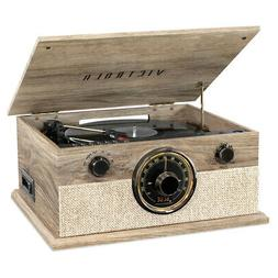 Victrola 6-in-1 Bluetooth Record Player with 3-Speed Turntab