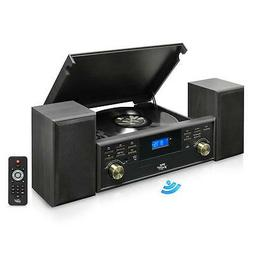 Bluetooth Compatible Classic Vintage Turntable - Retro Recor