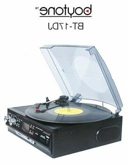 Boytone - 3-speed Turntable - Black