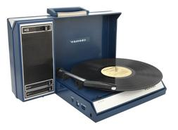 Crosley CR6016A-BL Spinnerette Portable USB Turntable with S