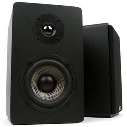 Micca MB42X Bookshelf Speakers With 4-Inch Carbon Fiber Woof