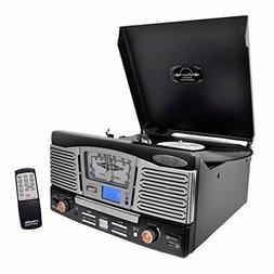 Pyle Stereo Turntable CD Player AM/FM AUX-IN USB/SD Remote V
