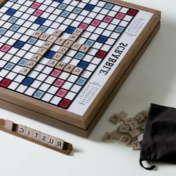 Scrabble Deluxe Vintage Edition with Rotating Turntable Wood