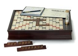 Winning Solutions  Scrabble Deluxe Wooden Edition with Rotat