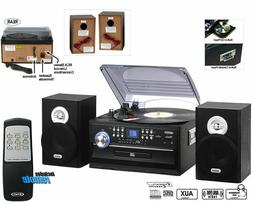 AM FM Stereo Radio with 3 Speed Stereo Turntable and CD Syst