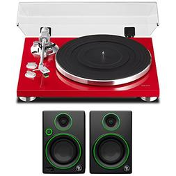 """Teac 2-Speed Analog Turntable Red  with 3"""" Creative Referenc"""
