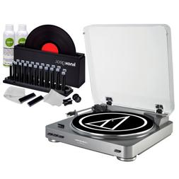 Audio-Technica AT-LP60 Turntable with Knox Gear Vinyl Record