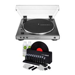 Audio-Technica AT-LP60X Stereo Turntable  with Knox Vinyl Cl