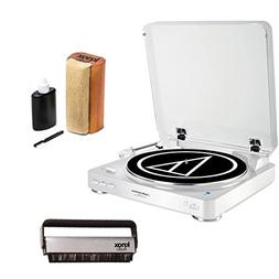 Audio Technica AT-LP60WH-BT Turntable with Knox Vinyl Brush
