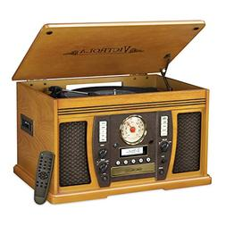 Victrola® Aviator Wooden 7-In-1 Nostalgic Record Player