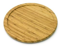 Lazy Susan Bamboo Turntable Kitchen Table Top Organizer Spin