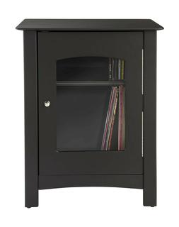 Crosley Radio Bardstown Entertainment Stand, Black, 1 ea