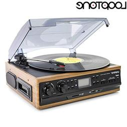 Looptone 6 in 1 Turntable Player with Built in Speakers ,Vin