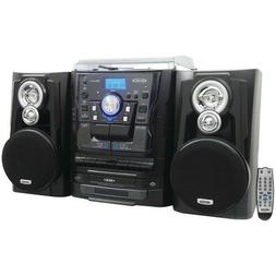 Jensen Bluetooth 3-Speed Stereo Turntable Music System With