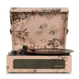 Bluetooth Portable Suitcase Record Player in Vintage Floral