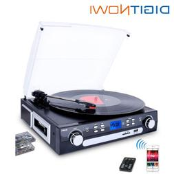 bluetooth record player turntable with speakers stereo