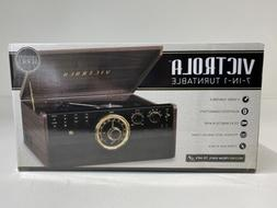 Victrola - Bluetooth Stereo Audio System - Gold/Brown/Black