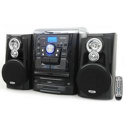 Bluetooth Stereo System 3-Speed Turntable Programmable Music