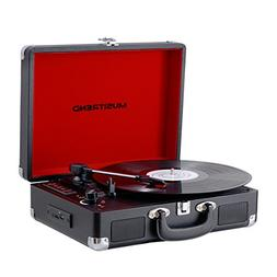 Musitrend Bluetooth Vinyl Records Player Portable Suitcase T
