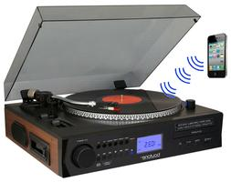 Boytone BT-11B Fully Automatic Large Size Turntable, Bluetoo