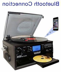 Boytone BT-22B,Bluetooth Record Player Turntable AM/FM Casse