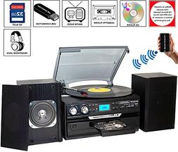 BT-24DJB Turntable with Bluetooth Connection 3 Speed 33, 45,