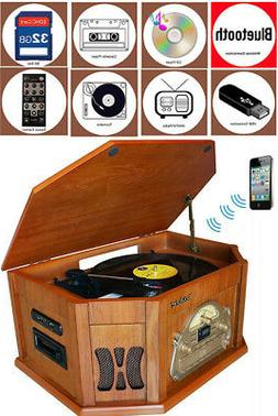 Boytone BT-25WB 8-in-1 Record Player Turntable Bluetooth Ste