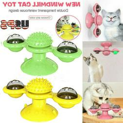 Cat Turning Windmill Turntable Tickle Cat Toy Scratch Pet Ac