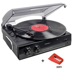 Lauson CL502 Turntable, USB Vinyl-To-MP3 Record Player, 3 Sp