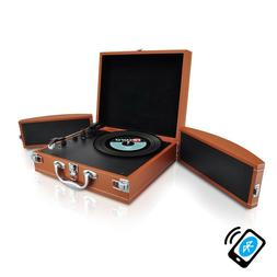 Pyle Classic Vinyl Record Player Turntable Bluetooth Music E