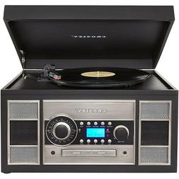 Crosley CR2413- BK Memory Master II 3- Speed Turntable w/CD