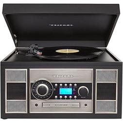 Crosley CR2413A-BK Memory Master II Turntable with Radio, CD