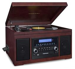 Crosley CR2415A-MA Cannon Turntable with Radio, CD Player, C
