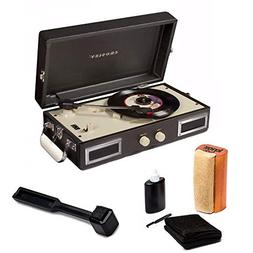 Crosley CR40-BK Mini Portable Turntable Full Stereo Speakers