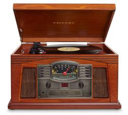 Crosley CR42D-PA Lancaster 3-Speed Turntable with Radio, CD/