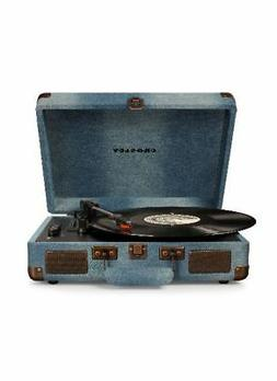 Crosley CR8005D-DE Cruiser Deluxe Portable 3-Speed Turntable
