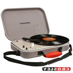 CROSLEY CR8016A-GY Messenger Portable Battery Operated Turnt