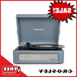 Crosley CR8017A-WB 3 Speed Voyager Portable Record Player Tu