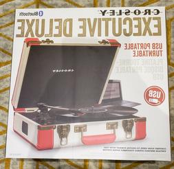 Crosley CR6019D-RE Executive Portable USB Turntable with Blu